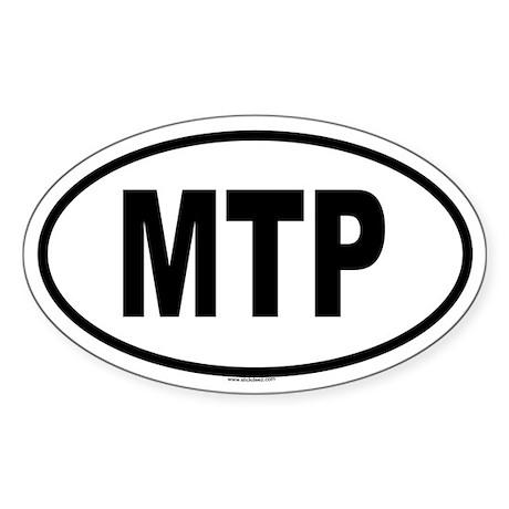 MTP Oval Sticker