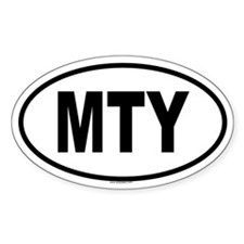 MTY Oval Decal