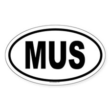 MUS Oval Decal