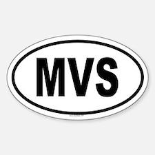 MVS Oval Decal