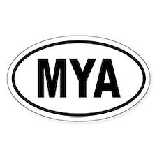 MYA Oval Decal