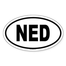 NED Oval Decal