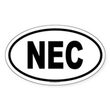 NEC Oval Decal