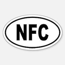 NFC Oval Decal