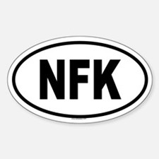 NFK Oval Decal