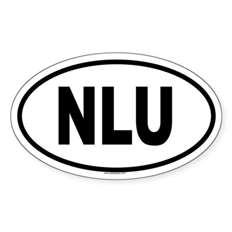 NLU Oval Sticker