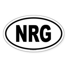 NRG Oval Decal
