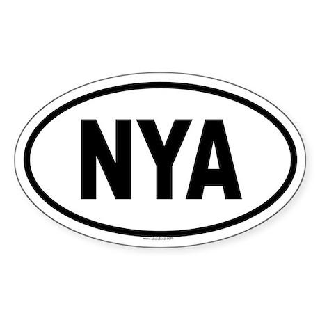 NYA Oval Sticker