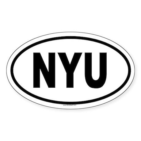NYU Oval Sticker