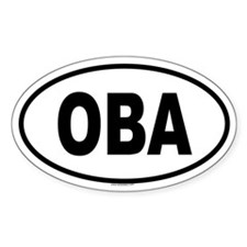 OBA Oval Decal