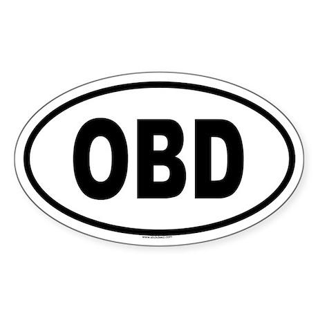 OBD Oval Sticker