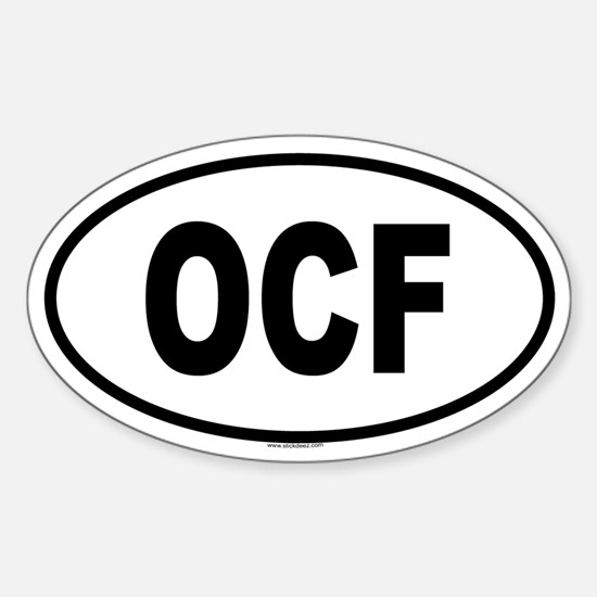 OCF Oval Decal