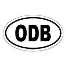 ODB Oval Decal
