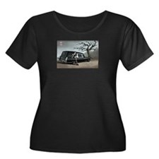Hearse with Gothic Pin-up Gir T