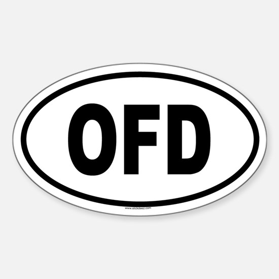 OFD Oval Bumper Stickers