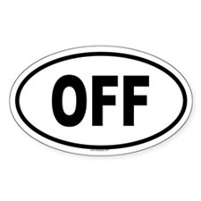 OFF Oval Decal