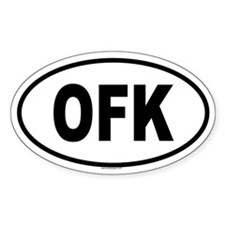 OFK Oval Decal