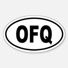 OFQ Oval Decal