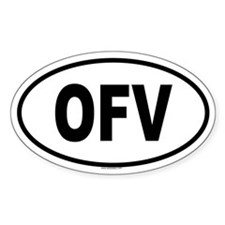 OFV Oval Decal