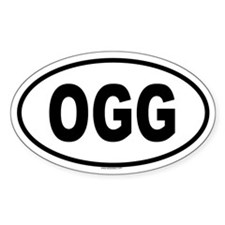 OGG Oval Decal