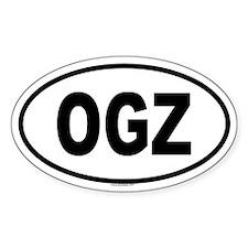 OGZ Oval Decal