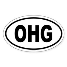 OHG Oval Decal