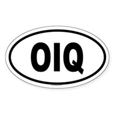 OIQ Oval Decal