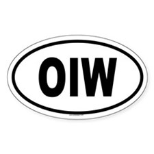 OIW Oval Decal