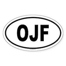 OJF Oval Decal