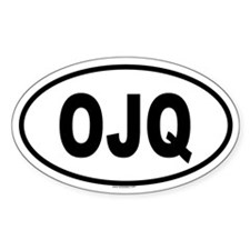 OJQ Oval Decal