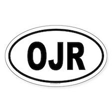 OJR Oval Decal