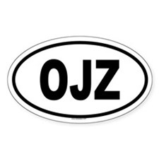 OJZ Oval Decal