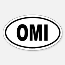 OMI Oval Decal