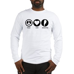 Peace Love Argentina Long Sleeve T-Shirt