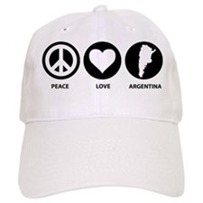 Peace Love Argentina Baseball Cap