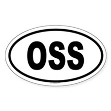 OSS Oval Decal