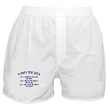 Tony's To-Do List Boxer Shorts