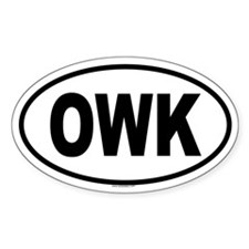 OWK Oval Decal