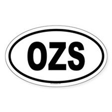 OZS Oval Decal