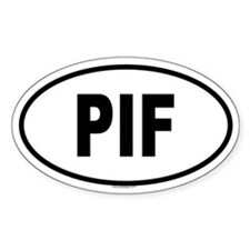 PIF Oval Decal