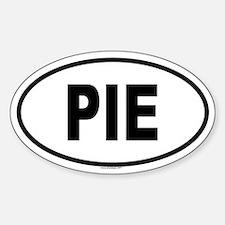 PIE Oval Bumper Stickers