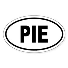 PIE Oval Decal