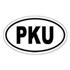 PKU Oval Decal
