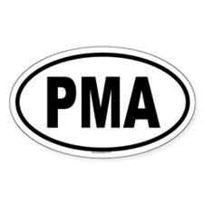 PMA Oval Decal