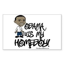 Obama is my Homeboy! Rectangle Decal
