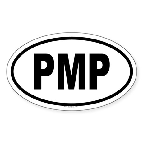 PMP Oval Sticker