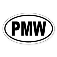 PMW Oval Decal