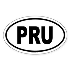 PRU Oval Decal