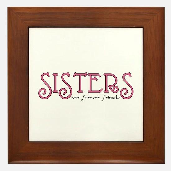 Forever Sisters Framed Tile