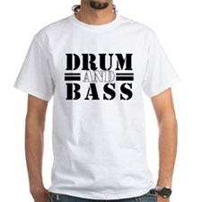 White Drum and Bass T-Shirt